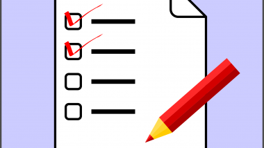 The six lesson stages can be used as a check list